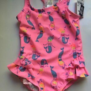 Oshkosh swimsuit Pink Mermaids 5T NWT
